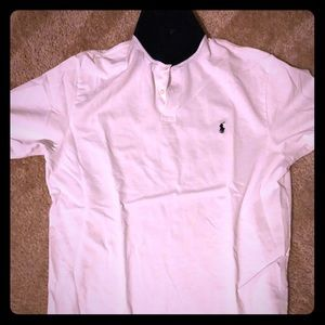 Polo Sport white with plaid Collar